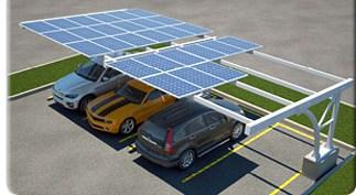 استخدام الألواح الشمسية لعمل مظلة للسيارات
