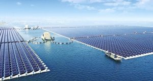 المحطات الشمسية العائمة