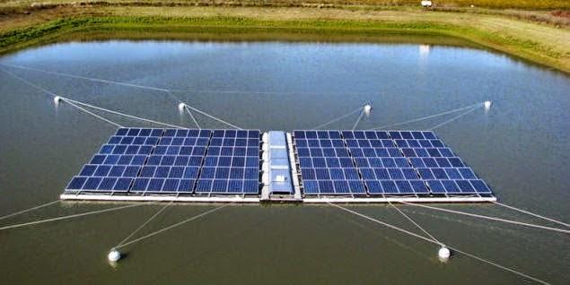 تثبيت المحطات الشمسية العائمة بالوايرات